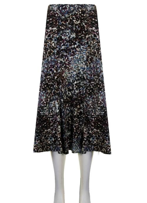 Dark Green Dark Green Printed Jersey Skirt 31 Inch Length/79 Cms